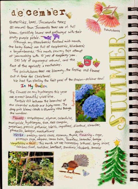 Garden journal - December