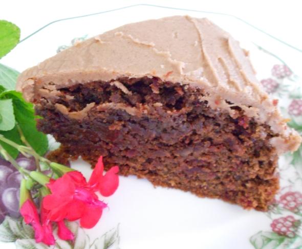 Slice of Red Velvet Beetroot cake