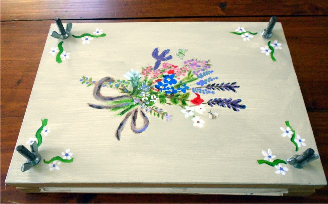 decorated flower press