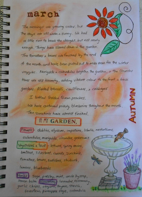 Garden Journal March