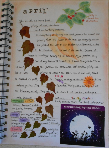 April garden journal