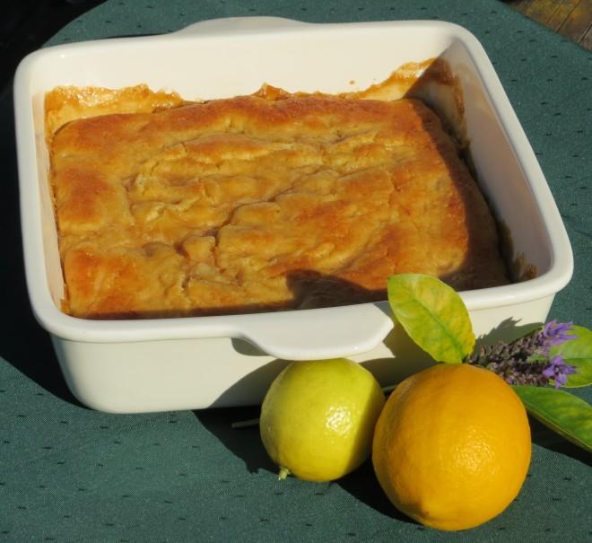 lemon & lime self-saucing pudding