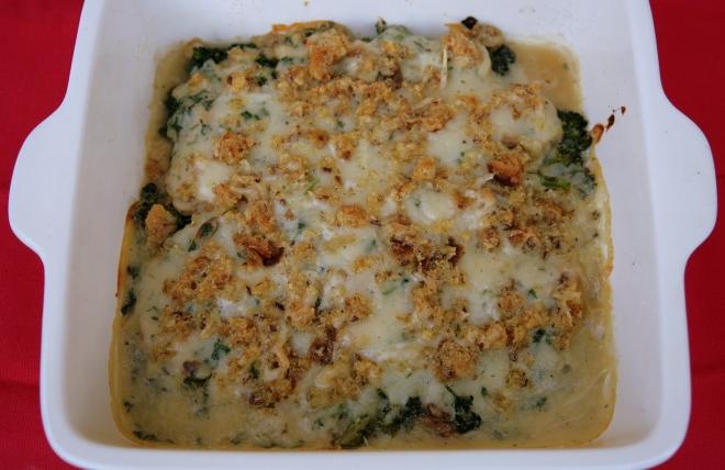 broccoli & mushroom gratin