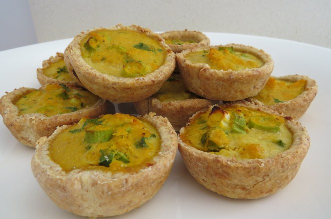 mini pumpkin quiches