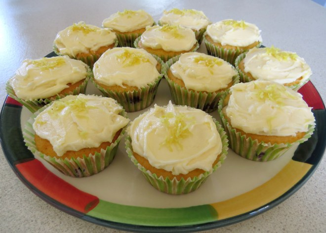 Lime and Blueberry Cupcakes