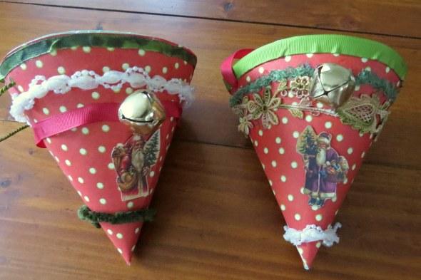 Christmas cornucopias